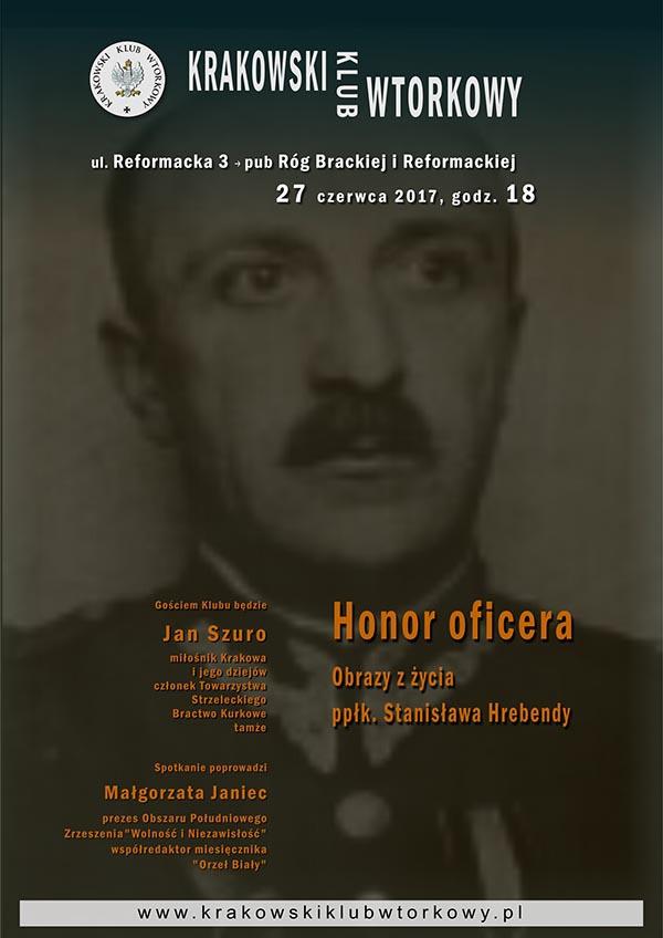 Honor oficera. Obrazy z życia ppłk Stanisława Hrebendy